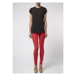 MOTHER Jeans Skinny The Looker POP! in Pink Berry